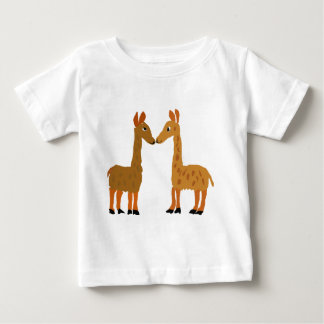 おもしろいなラマ愛原住民の芸術 ベビーTシャツ