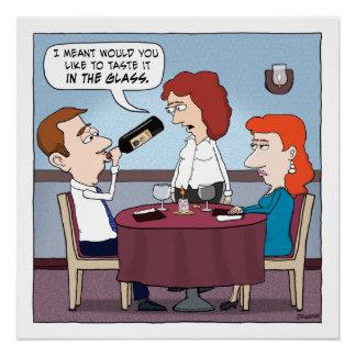 おもしろいなレストランのワインChugger ポスター