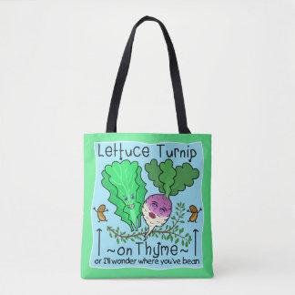 おもしろいなレタスの野菜しゃれの基本先生 トートバッグ
