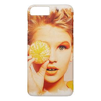 おもしろいなレトロの絵画のオレンジの女の子 iPhone 8 PLUS/7 PLUSケース