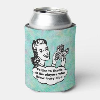 おもしろいなレトロのBuncoプレーヤーの水彩画 缶クーラー