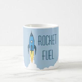 おもしろいなロケット燃料の青いレトロの漫画Rocketship コーヒーマグカップ