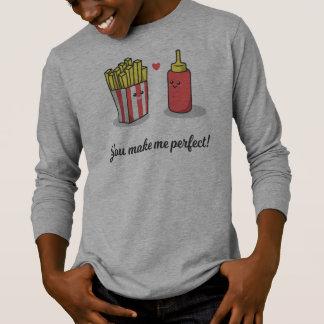 おもしろいなロマンチック私に|の袖のワイシャツを完成させます Tシャツ