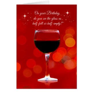 おもしろいなワインのテーマのバースデー・カード グリーティングカード