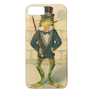 おもしろいなヴィンテージのカエル iPhone 7ケース