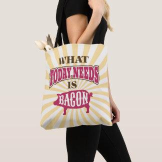 おもしろいなヴィンテージのスタイルのベーコンのミーム トートバッグ