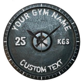 おもしろいなヴィンテージの体育館の所有者またはユーザーのフィットネス ラージ壁時計