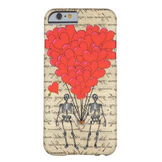 おもしろいなヴィンテージの骨組および赤いハート iPhone 6 ベアリーゼアケース