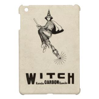 おもしろいなヴィンテージの魔法使いの帽子のほうきの柄ハロウィン iPad MINIケース