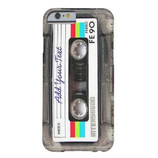 おもしろいなヴィンテージ80sのレトロの音楽カセットテープ barely there iPhone 6 ケース