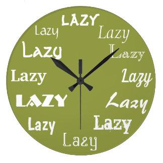 おもしろいな不精な単語のプリント ラージ壁時計