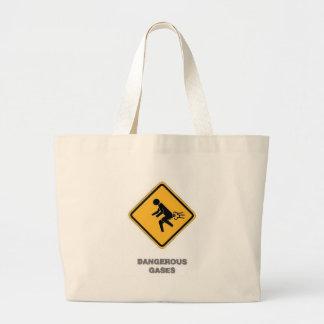 おもしろいな交通標識 ラージトートバッグ