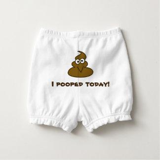 おもしろいな今日I Poopedのベビー おむつカバー