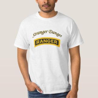 おもしろいな他人の危険のTシャツの他人の危険は鳴りました Tシャツ