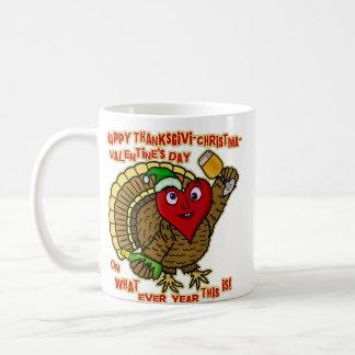 おもしろいな休日によってトルコの飲まれるハート コーヒーマグカップ