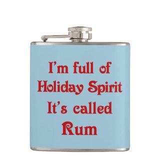 おもしろいな休日の精神のラム酒 フラスク