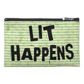 おもしろいな作家の読者のLitは起こります トラベルアクセサリーバッグ