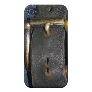 おもしろいな作業員の革ベルトおよびバックル iPhone 4/4S CASE