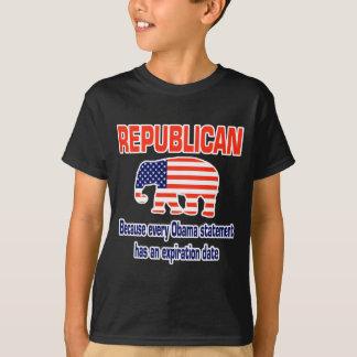おもしろいな共和党のオバマ Tシャツ