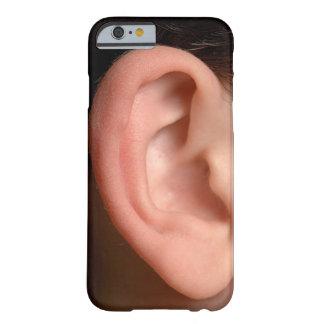 おもしろいな冗談のユーモアのあるな右の耳の写真の錯覚 BARELY THERE iPhone 6 ケース