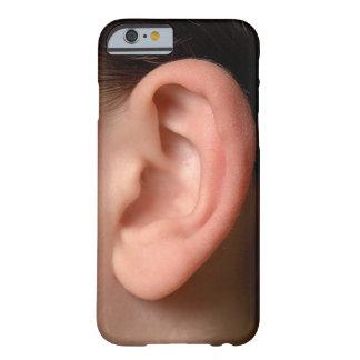 おもしろいな冗談のユーモアのあるな左の耳の写真の錯覚 BARELY THERE iPhone 6 ケース