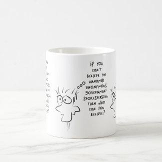 おもしろいな冗談の無名匿名の政府筋 コーヒーマグカップ