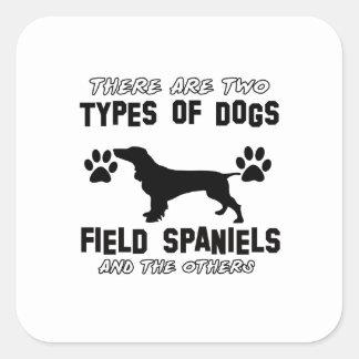 おもしろいな分野スパニエル犬のデザイン スクエアシール