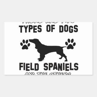 おもしろいな分野スパニエル犬のデザイン 長方形シール
