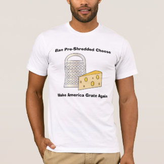 おもしろいな切札はアメリカに素晴らしい(火格子の)チーズをします Tシャツ