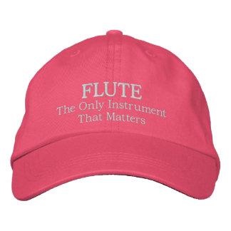 おもしろいな刺繍されたフルート音楽帽子の帽子 刺繍入りキャップ