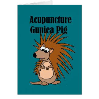 おもしろいな刺鍼術のモルモットのヤマアラシの漫画 カード