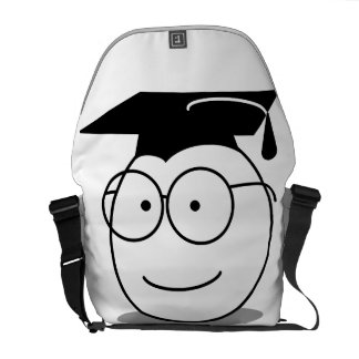 おもしろいな卒業のギフトバッグの付属品をカスタマイズ メッセンジャーバッグ