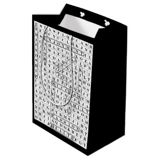 おもしろいな単語調査の紙のギフトバッグ ミディアムペーパーバッグ