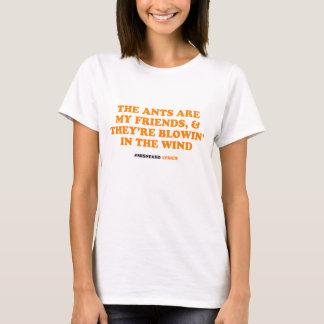 おもしろいな印刷のmisheard歌の叙情詩 tシャツ