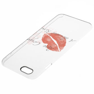 おもしろいな口紅のIphone 6のプラスの場合 クリア iPhone 6 Plusケース