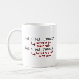 おもしろいな句読点文法 コーヒーマグカップ