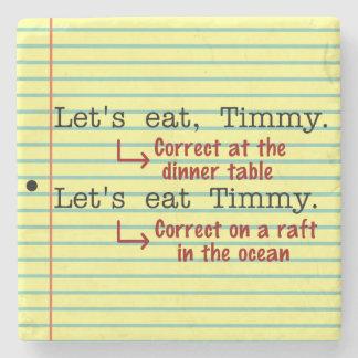 おもしろいな句読点文法 ストーンコースター