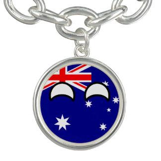 おもしろいな向くオタク系のなオーストラリアCountryball チャームブレスレット