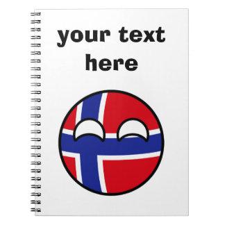 おもしろいな向くオタク系のなノルウェーCountryball ノートブック