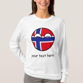 おもしろいな向くオタク系のなノルウェーCountryball Tシャツ