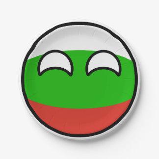 おもしろいな向くオタク系のなブルガリアCountryball ペーパープレート