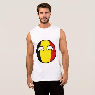 おもしろいな向くオタク系のなベルギーCountryball 袖なしシャツ