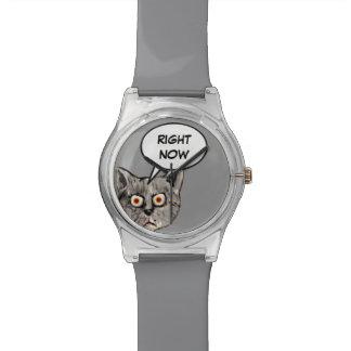おもしろいな吹き出し今猫 腕時計