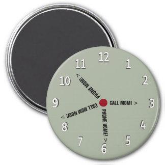 おもしろいな呼出しお母さんのメモの想像時計 マグネット