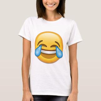 おもしろいな喜びのemojiの破損 tシャツ