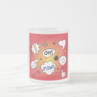 おもしろいな喜劇的なデザイン フロストグラスマグカップ
