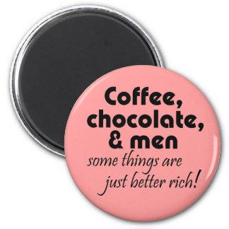 おもしろいな喫茶店のギフトのピンクの冷蔵庫用マグネット マグネット