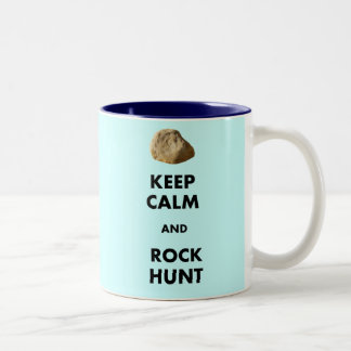 """おもしろいな地質学者のギフトは""""保ち、平静を…."""" ツートーンマグカップ"""