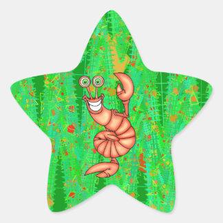 おもしろいな好気性のロブスター 星シール