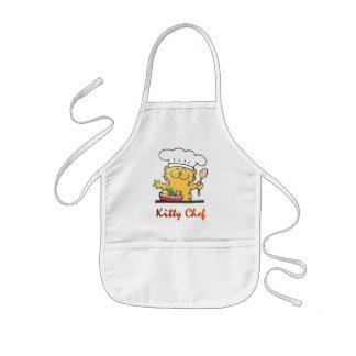 おもしろいな子猫のシェフは調理できます 子供用エプロン